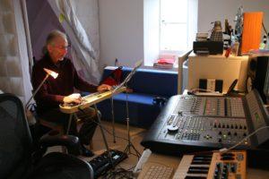 Steve Howe - recording Celestial (wide) 200317